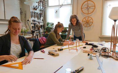 workshop koperen lamp
